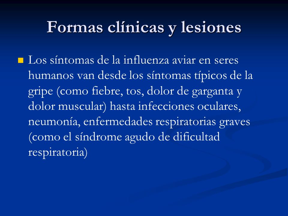 Formas clínicas y lesiones