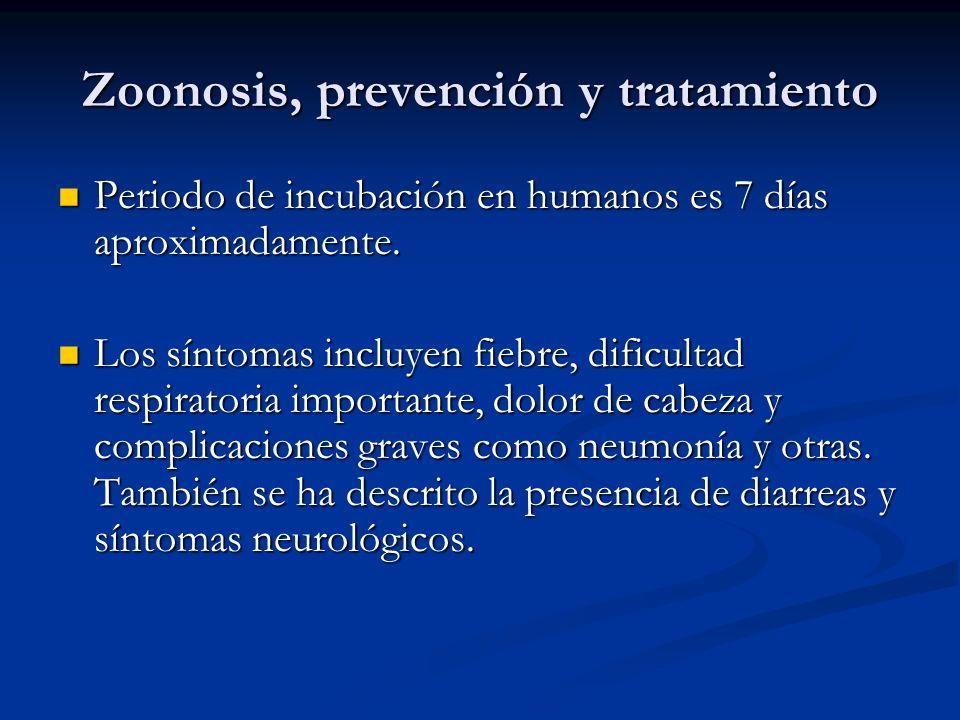Zoonosis, prevención y tratamiento