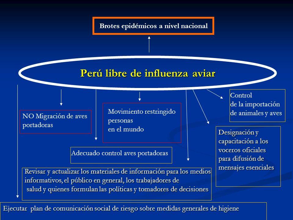 Perú libre de influenza aviar