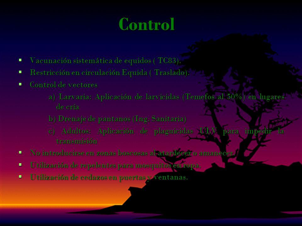 Control Vacunación sistemática de equidos ( TC83).