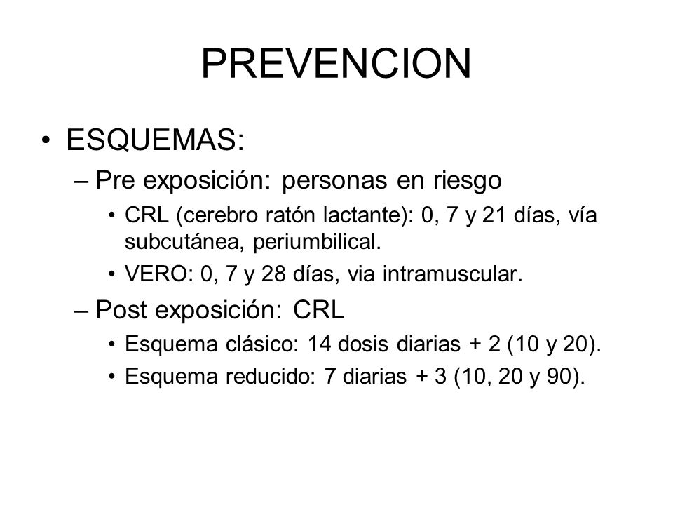 PREVENCION ESQUEMAS: Pre exposición: personas en riesgo