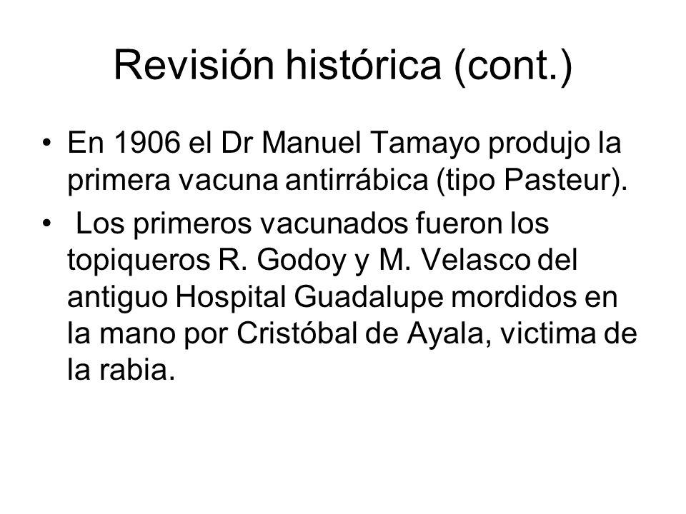 Revisión histórica (cont.)