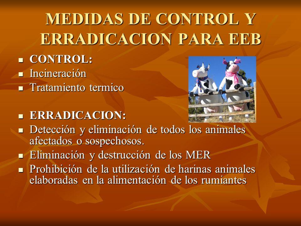 MEDIDAS DE CONTROL Y ERRADICACION PARA EEB
