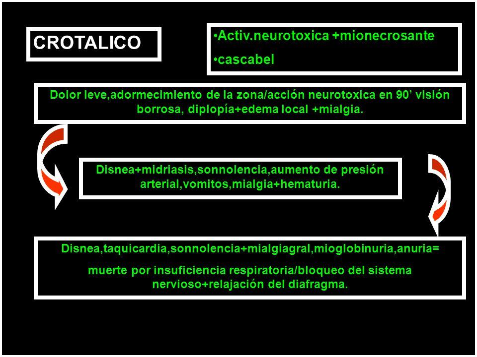 Disnea,taquicardia,sonnolencia+mialgiagral,mioglobinuria,anuria=