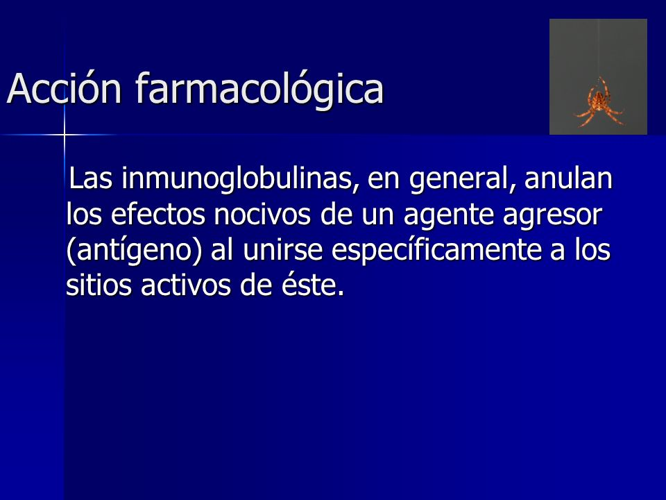 Acción farmacológica