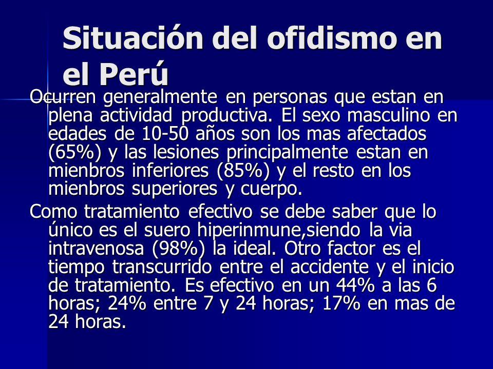 Situación del ofidismo en el Perú