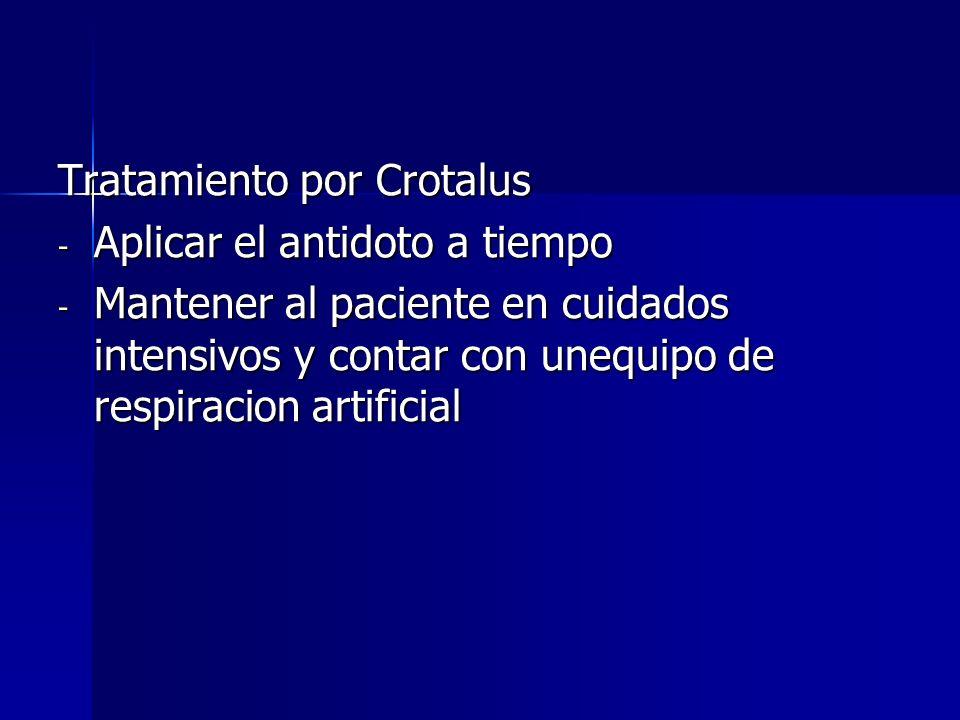Tratamiento por Crotalus