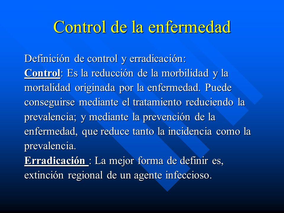 Control de la enfermedad