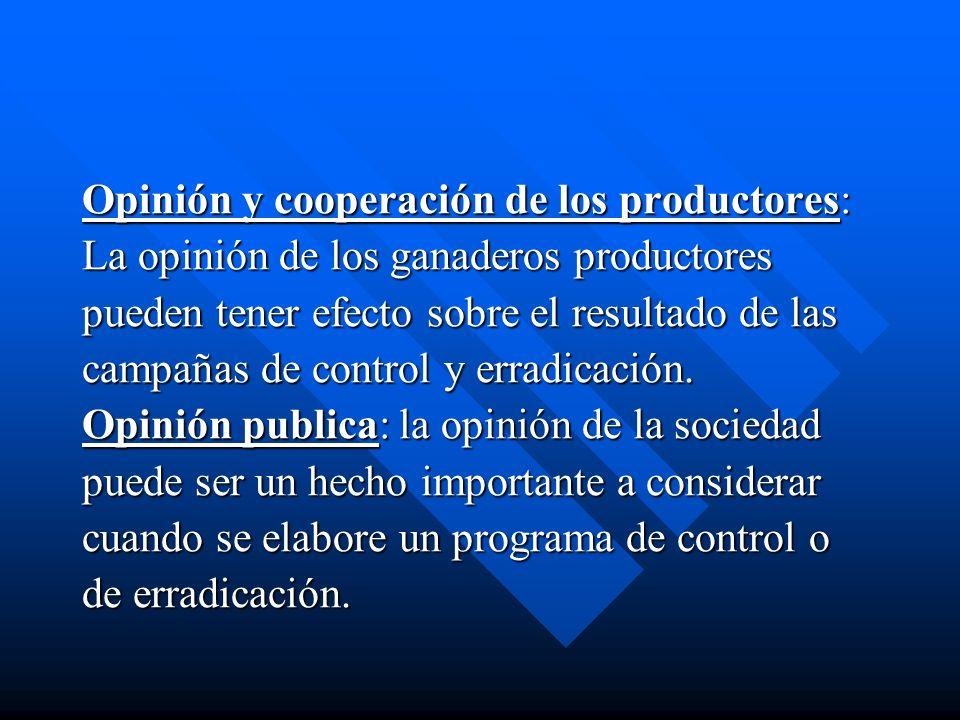 Opinión y cooperación de los productores: