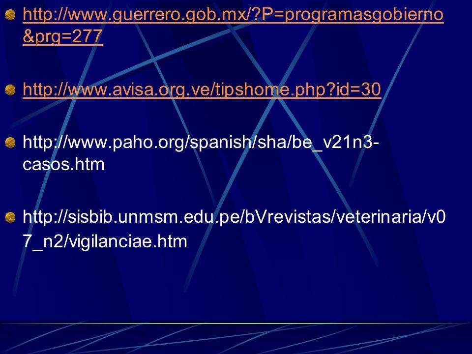 http://www.guerrero.gob.mx/ P=programasgobierno&prg=277 http://www.avisa.org.ve/tipshome.php id=30.