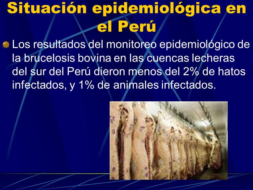 Situación epidemiológica en el Perú
