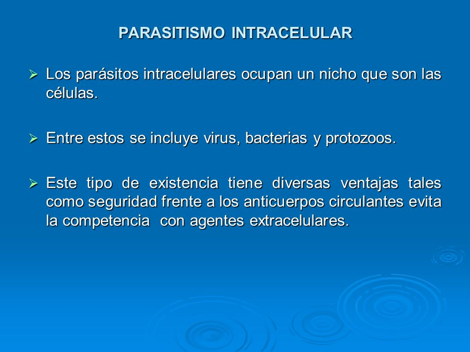 PARASITISMO INTRACELULAR