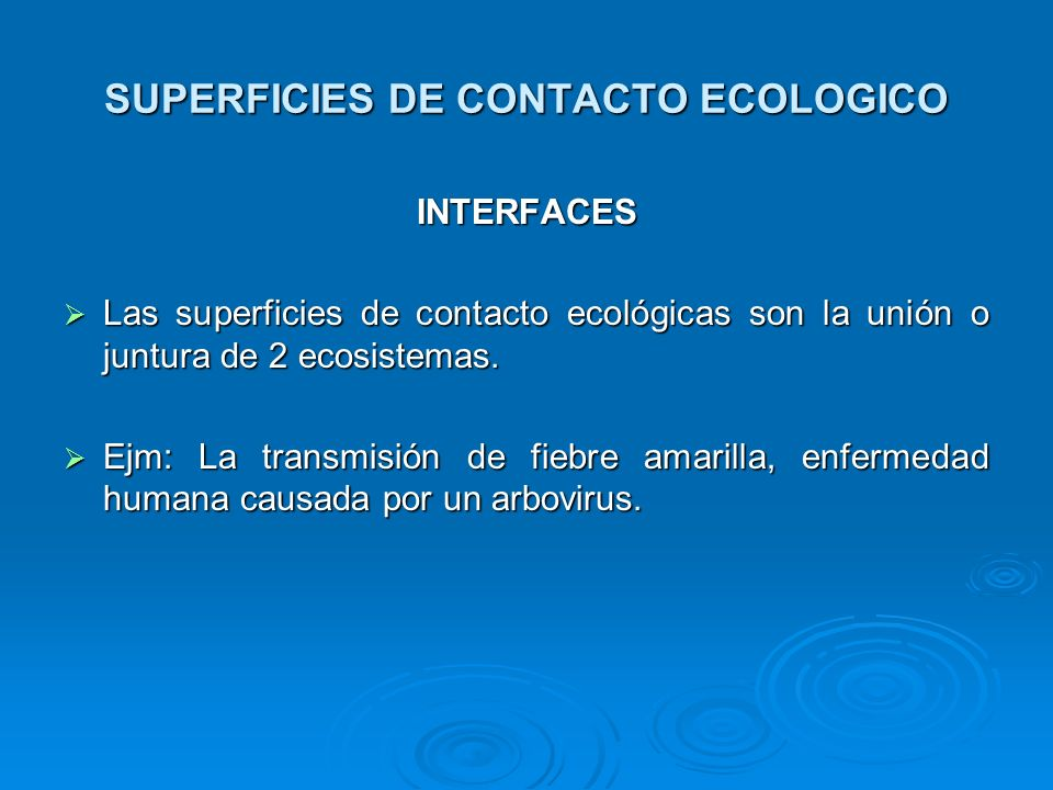 SUPERFICIES DE CONTACTO ECOLOGICO