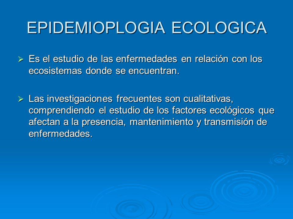 EPIDEMIOPLOGIA ECOLOGICA