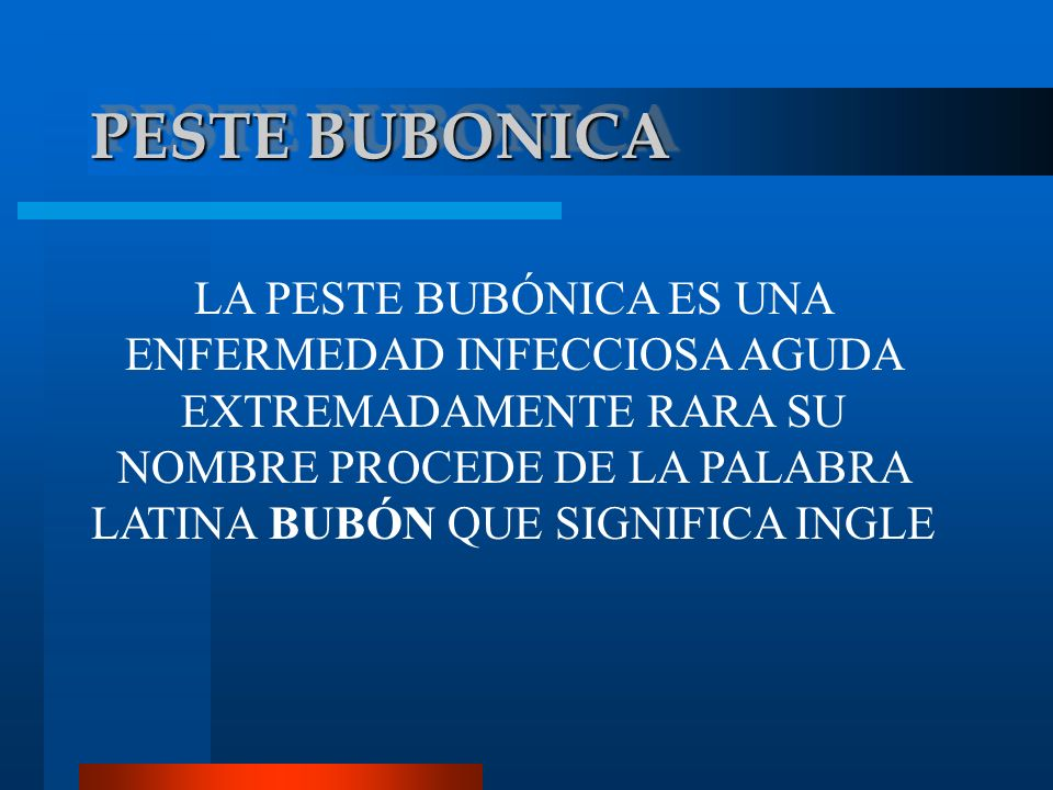 PESTE BUBONICA