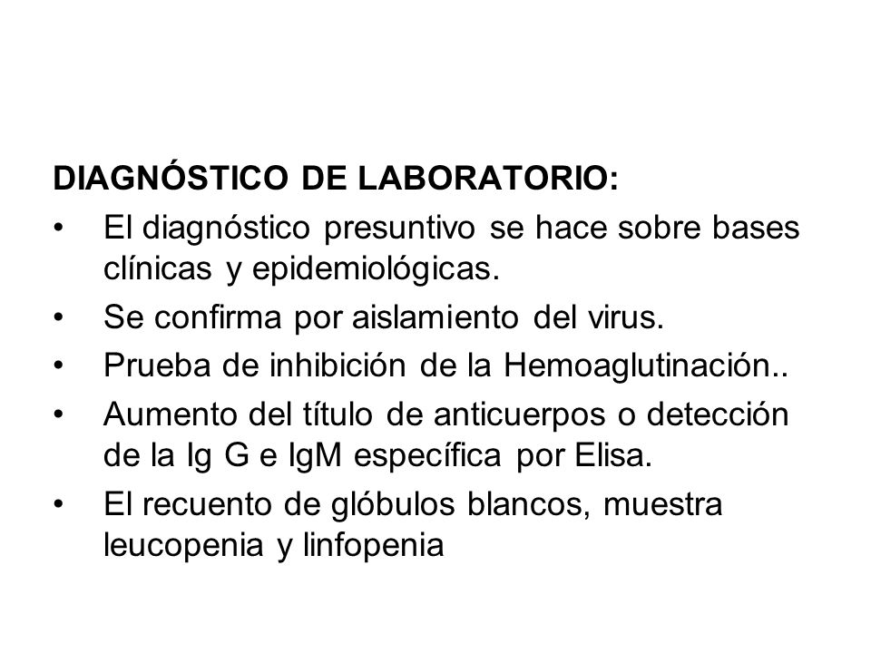 DIAGNÓSTICO DE LABORATORIO: