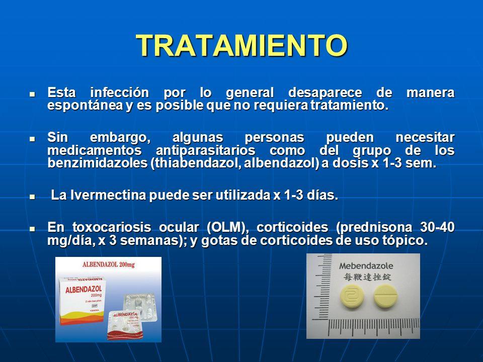 TRATAMIENTO Esta infección por lo general desaparece de manera espontánea y es posible que no requiera tratamiento.