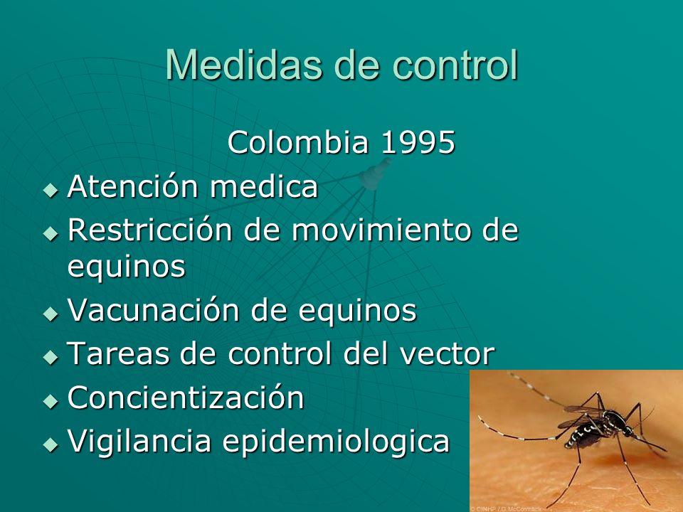 Medidas de control Colombia 1995 Atención medica