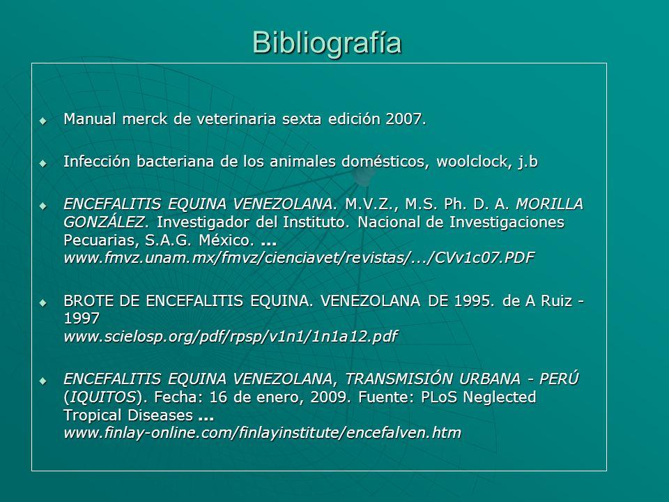Bibliografía Manual merck de veterinaria sexta edición 2007.