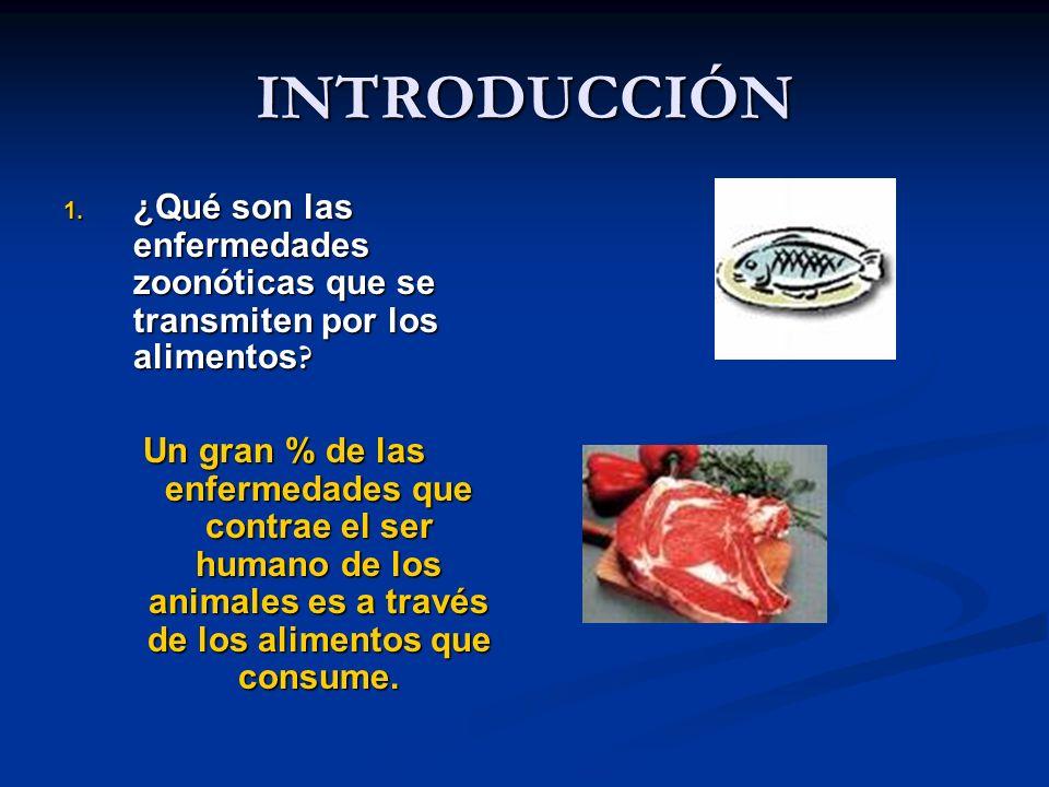 INTRODUCCIÓN ¿Qué son las enfermedades zoonóticas que se transmiten por los alimentos