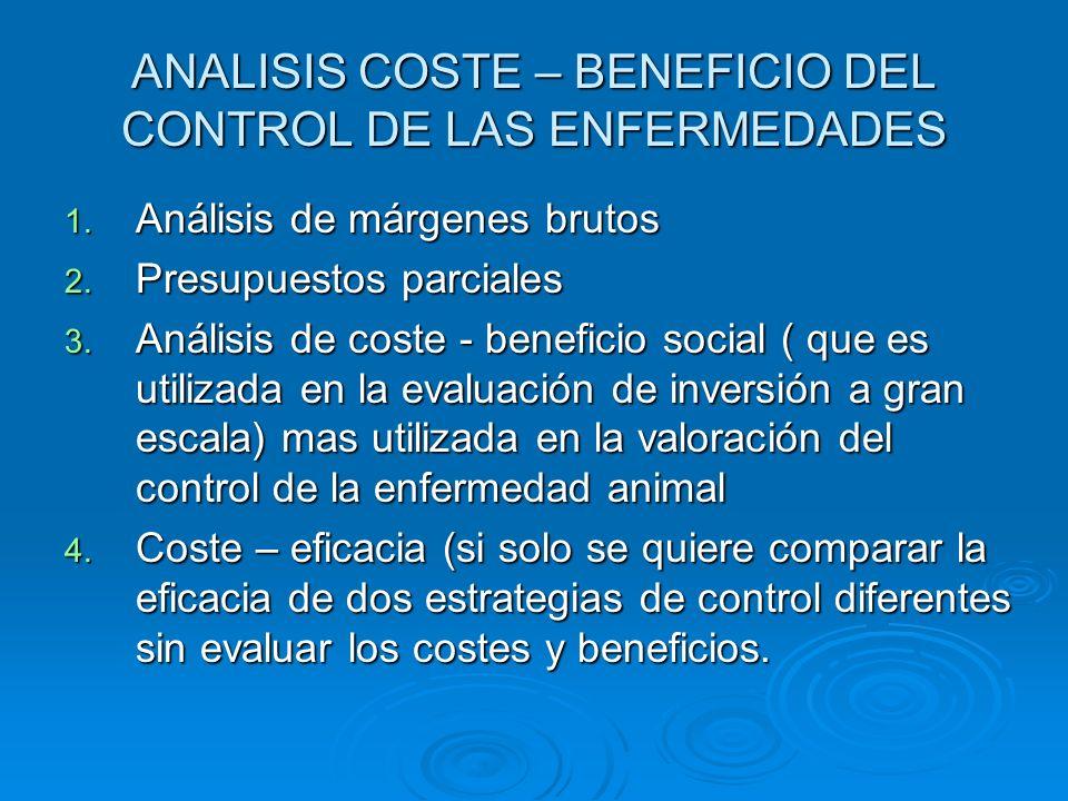 ANALISIS COSTE – BENEFICIO DEL CONTROL DE LAS ENFERMEDADES