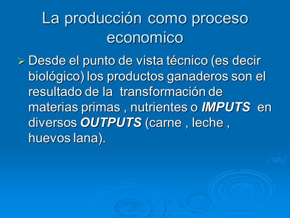 La producción como proceso economico