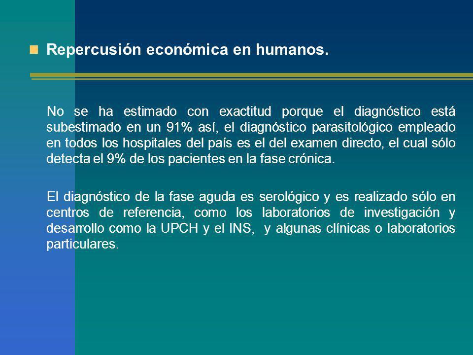 Repercusión económica en humanos.
