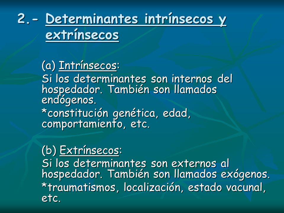 2.- Determinantes intrínsecos y extrínsecos