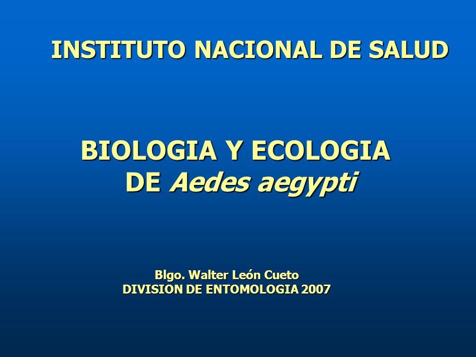 INSTITUTO NACIONAL DE SALUD DIVISION DE ENTOMOLOGIA 2007