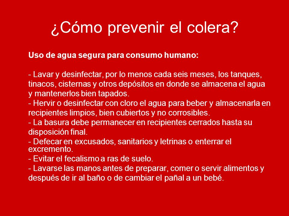 ¿Cómo prevenir el colera