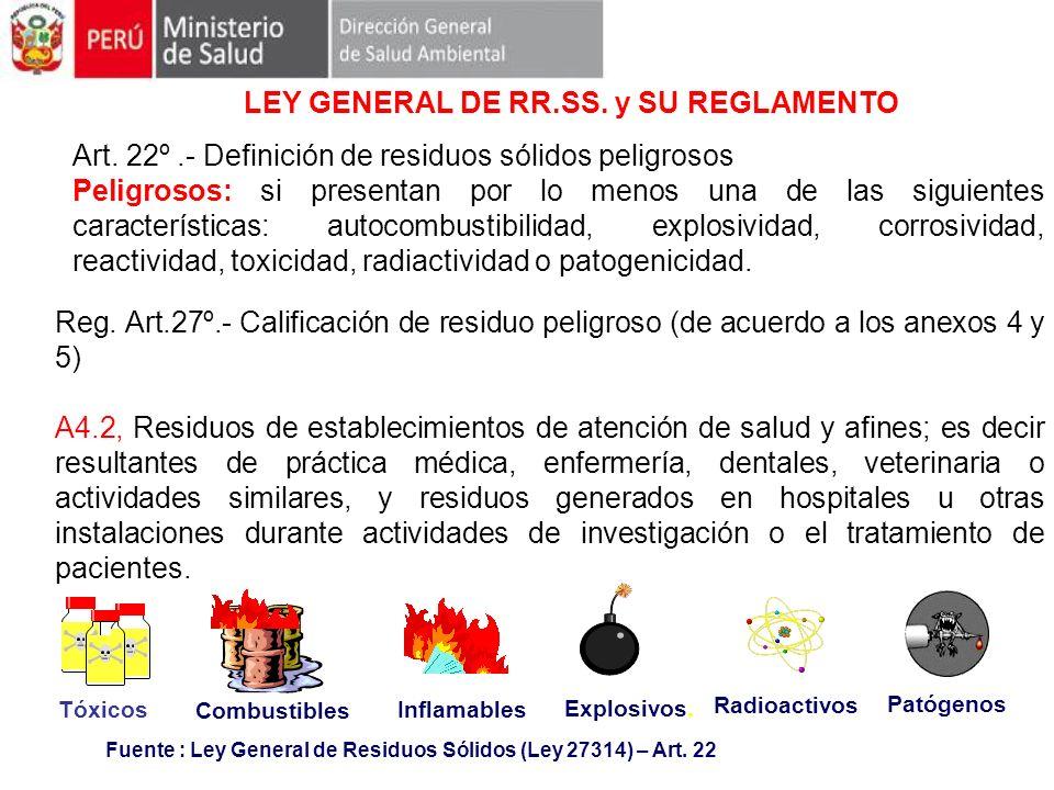 LEY GENERAL DE RR.SS. y SU REGLAMENTO