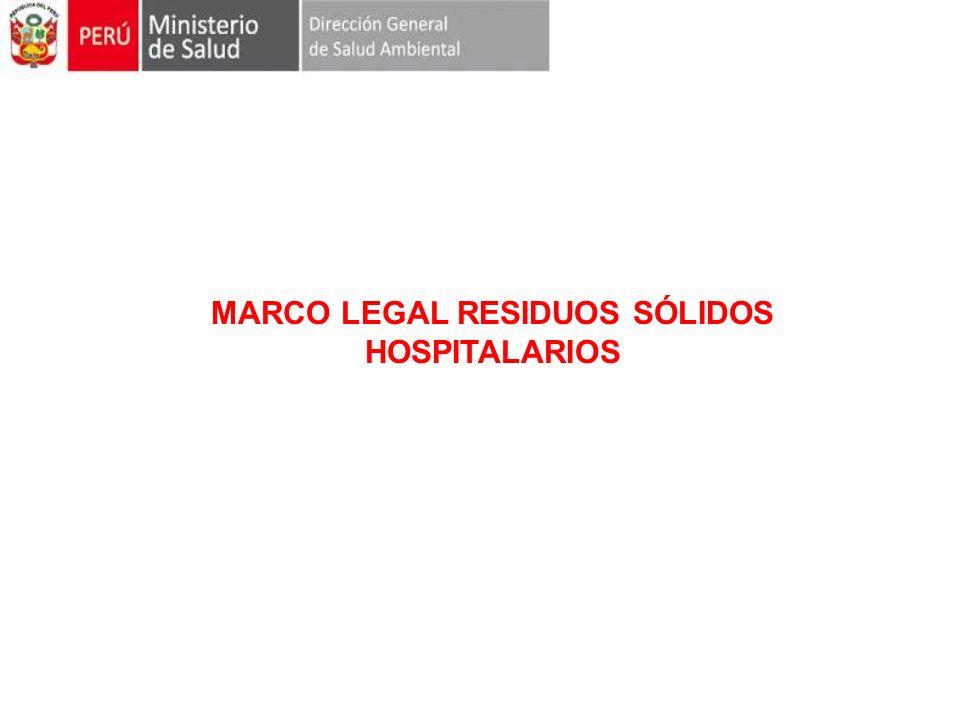 MARCO LEGAL RESIDUOS SÓLIDOS HOSPITALARIOS
