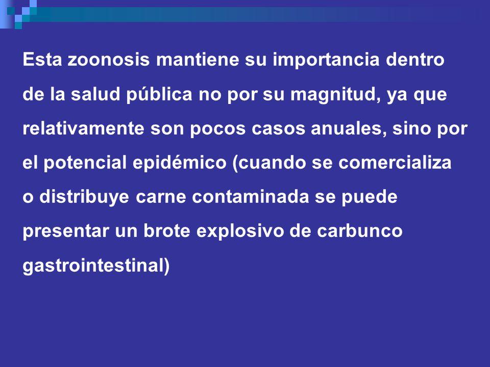 Esta zoonosis mantiene su importancia dentro