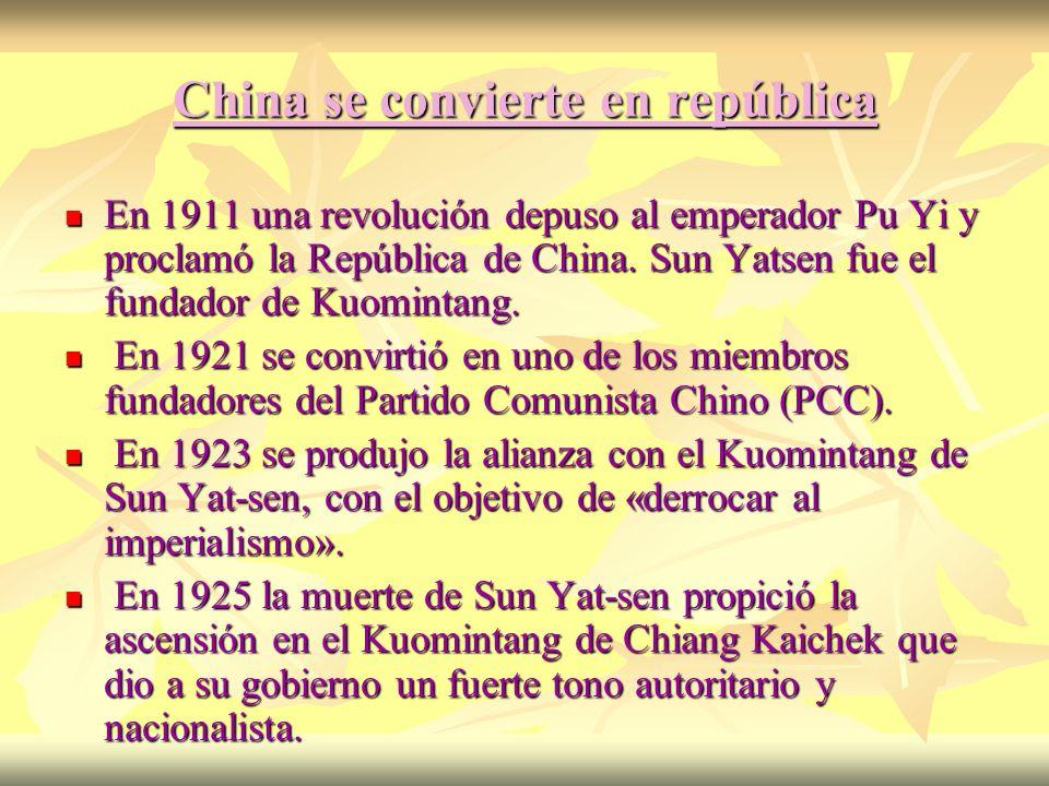 China se convierte en república