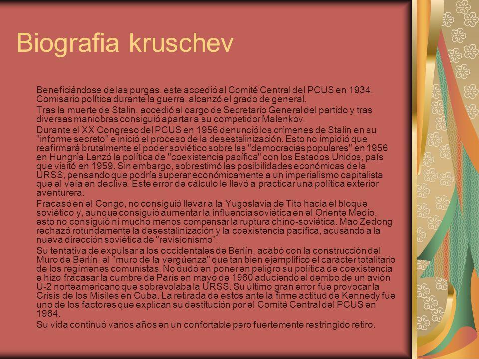 Biografia kruschev