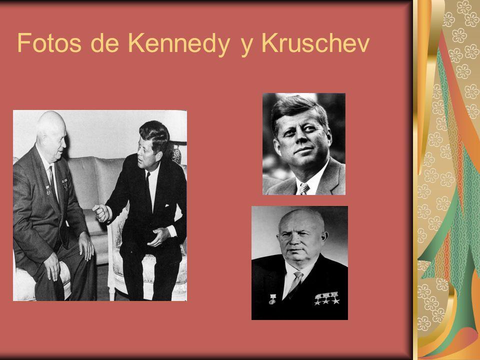 Fotos de Kennedy y Kruschev
