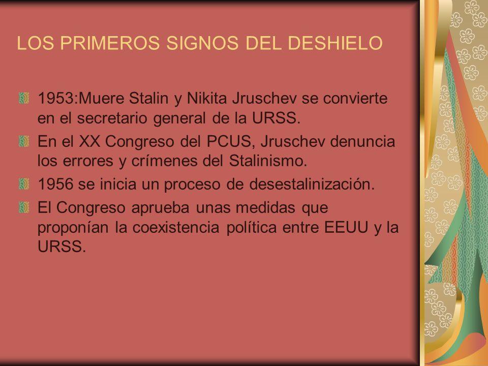 LOS PRIMEROS SIGNOS DEL DESHIELO