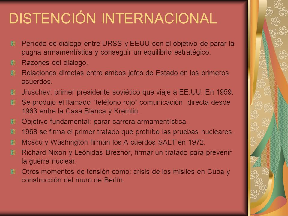 DISTENCIÓN INTERNACIONAL