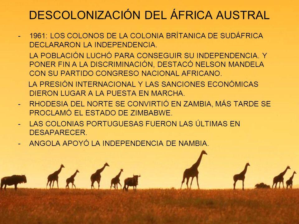 DESCOLONIZACIÓN DEL ÁFRICA AUSTRAL