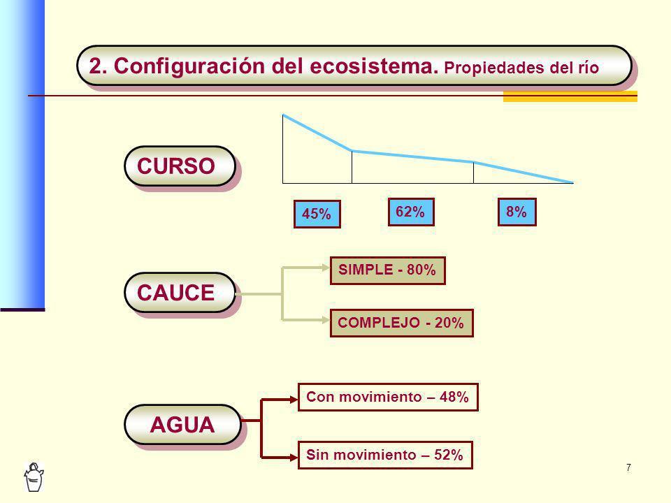 2. Configuración del ecosistema. Propiedades del río