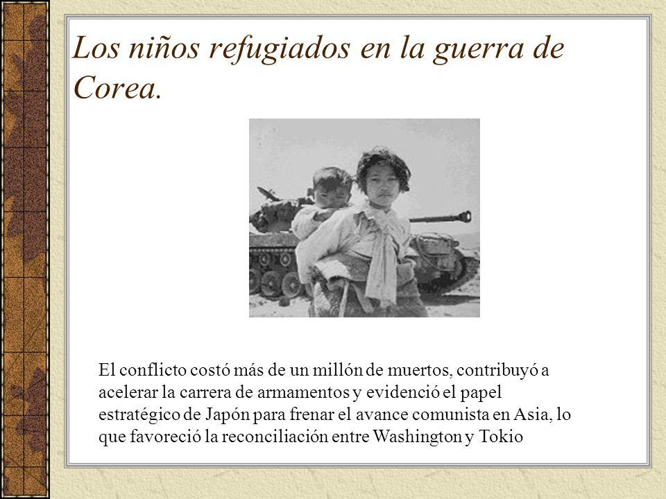 Los niños refugiados en la guerra de Corea.