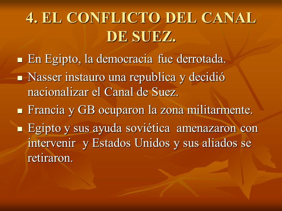 4. EL CONFLICTO DEL CANAL DE SUEZ.