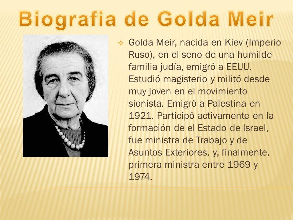 Biografia de Golda Meir