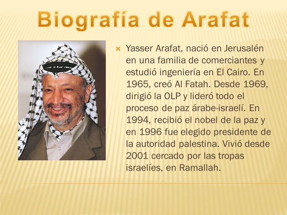 Biografía de Arafat