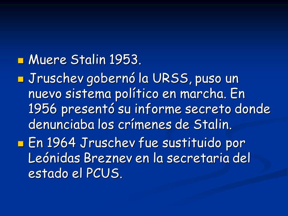 Muere Stalin 1953.