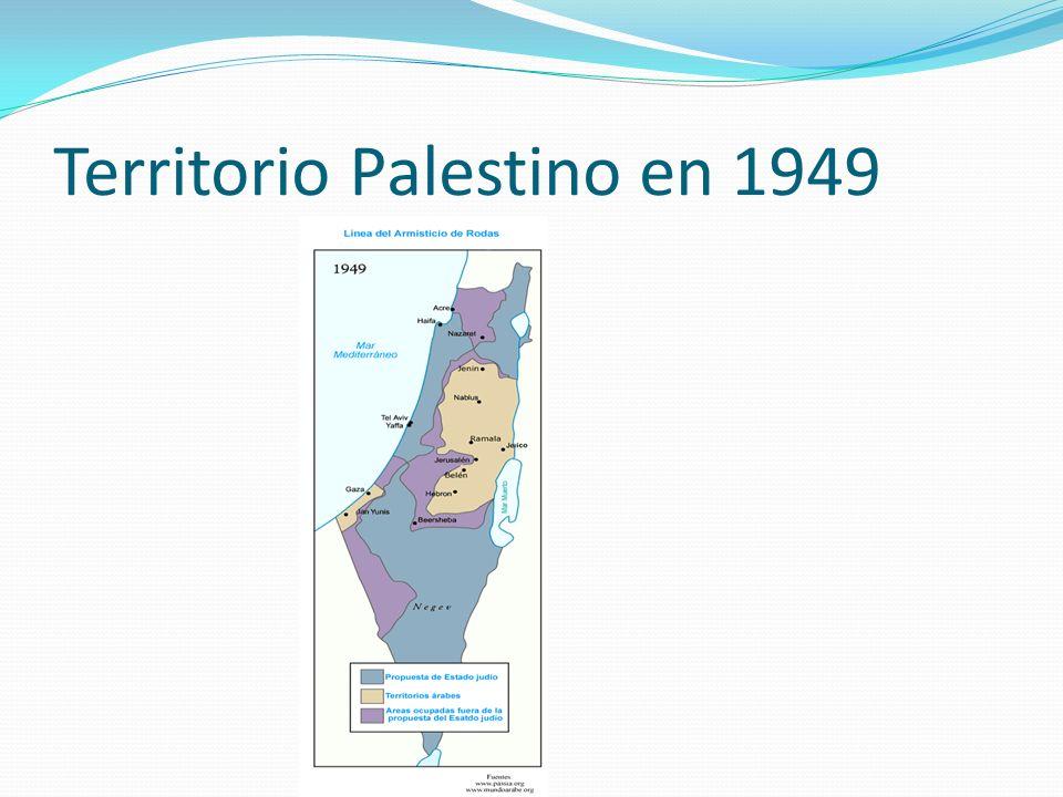 Territorio Palestino en 1949
