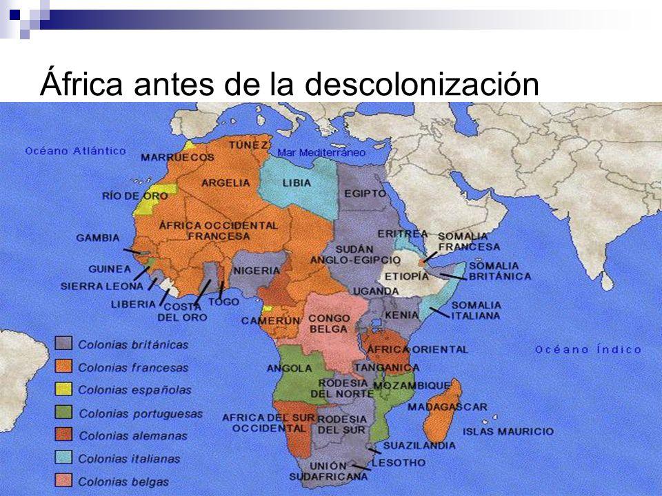 África antes de la descolonización