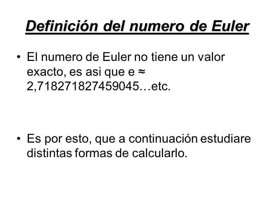 Definición del numero de Euler