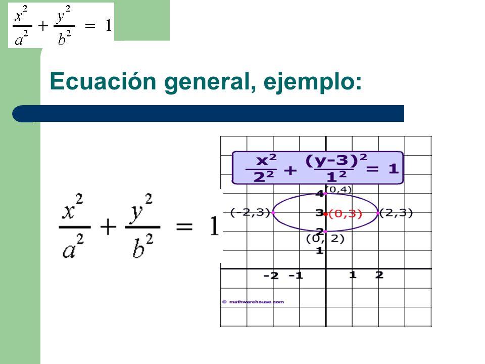 Ecuación general, ejemplo: