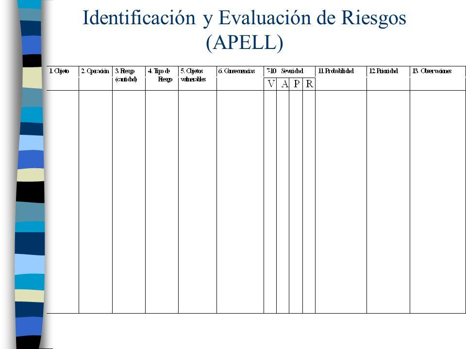 Identificación y Evaluación de Riesgos (APELL)